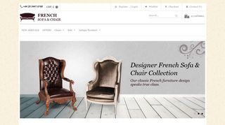 French Sofa & Chair